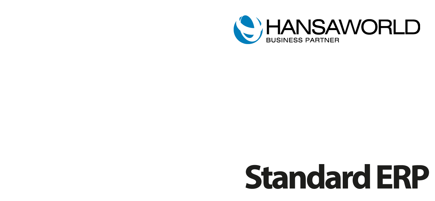 HansaWorld Business Partner, implementing and supporting users of Standard ERP software.